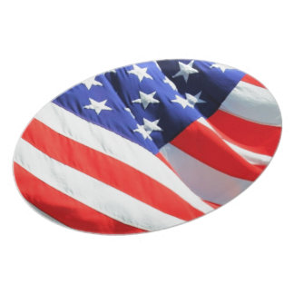 American Flag, you can add text and upload photos Plate