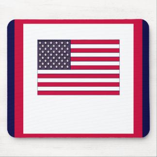 American Flag (Your Text) Mouse Pad