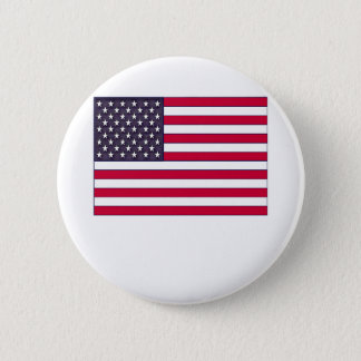 American Flag (Your Text) Pinback Button