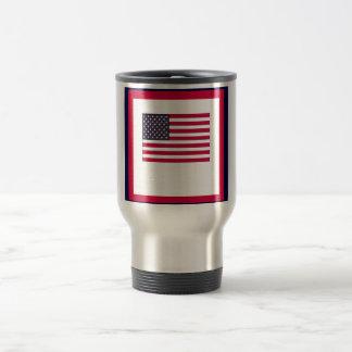 American Flag (Your Text) Travel Mug