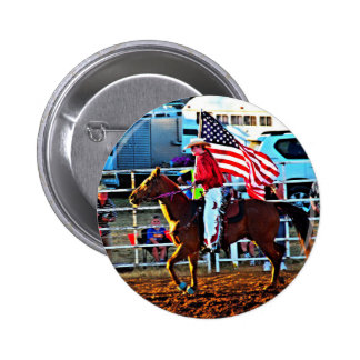 American Flage bearer at the Merbein Rodeo Buttons