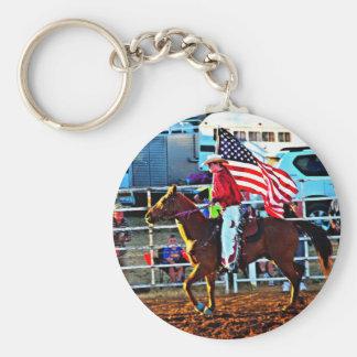American Flage bearer at the Merbein Rodeo Keychain