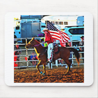 American Flage bearer at the Merbein Rodeo Mouse Pad