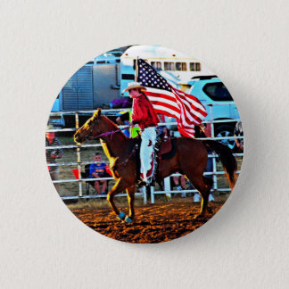 American Flage bearer at the Merbein Rodeo Pinback Button