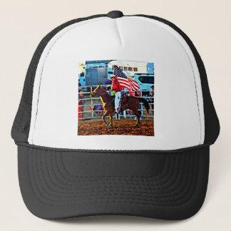 American Flage bearer at the Merbein Rodeo Trucker Hat