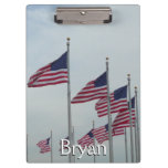American Flags at the Washington Monument Clipboard