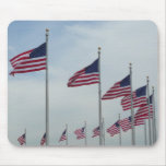 American Flags at the Washington Monument Mouse Pad