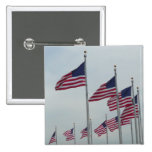 American Flags at the Washington Monument Pinback Button