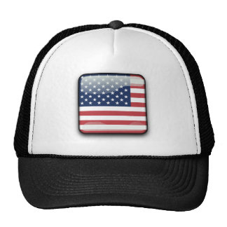 American Flags Banner USA Hat