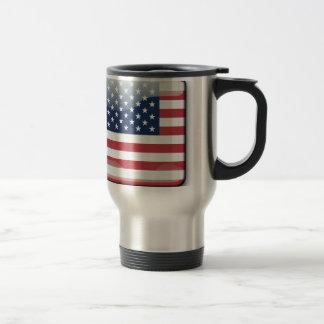 American Flags Banner USA Travel Mug