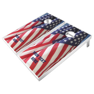 American Flags Beanbag Toss Customized Lawn Game