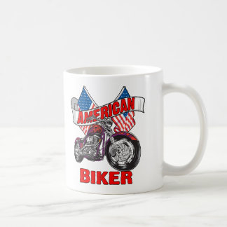 American Flags Biker Coffee Mug
