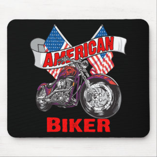 American Flags Biker Mouse Pad