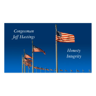 American Flags Business Card Templates