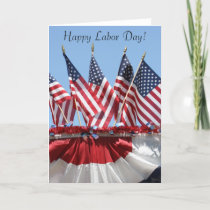 American Flags Labor Day Greeting Card