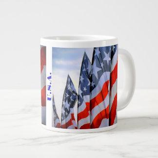 American Flags Large Coffee Mug