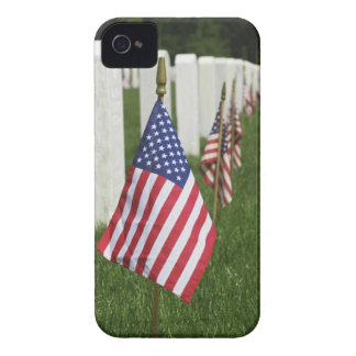 American flags on tombs of American Veterans on 2 Case-Mate iPhone 4 Case