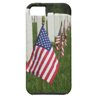 American flags on tombs of American Veterans on 2 iPhone SE/5/5s Case