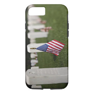 American flags on tombs of American Veterans on iPhone 8/7 Case