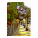 American flags post cards