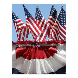American Flags Postcard