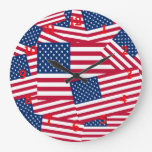 American Flags Wall Clock