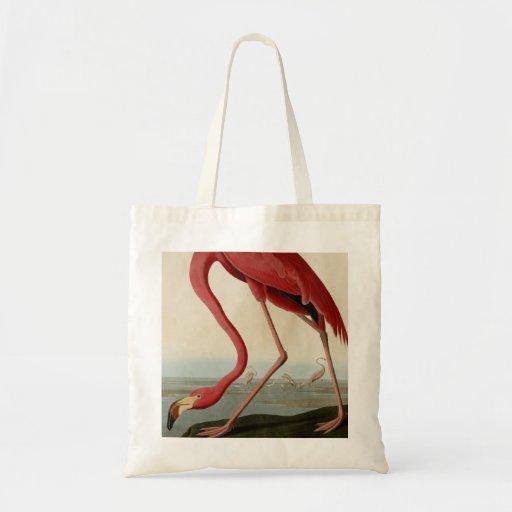 American Flamingo Canvas Bag