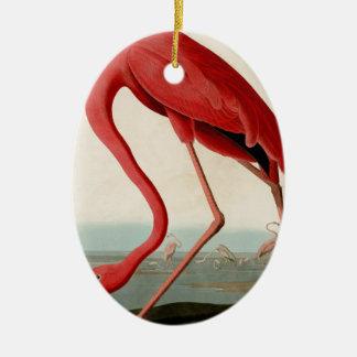 American Flamingo by Audubon Ceramic Ornament