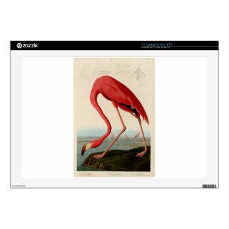 American Flamingo by Audubon Laptop Skin