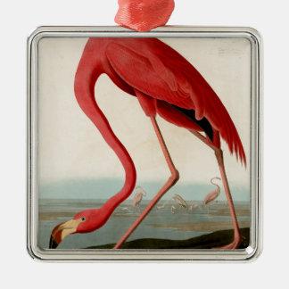 American Flamingo by Audubon Metal Ornament