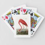 American Flamingo John Audubon Birds of America Bicycle Playing Cards
