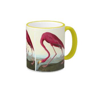 American Flamingo, John James Audubon Ringer Mug
