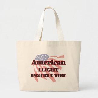 American Flight Instructor Jumbo Tote Bag