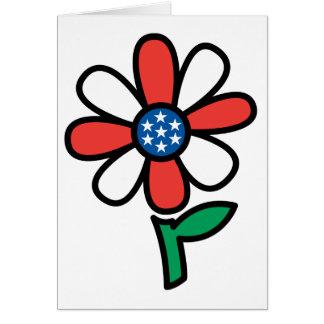 American Flower Greeting Card