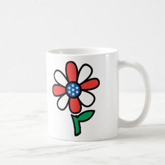 American Flower Classic White Coffee Mug