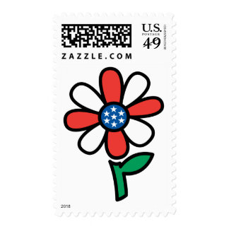 American Flower Postage Stamps