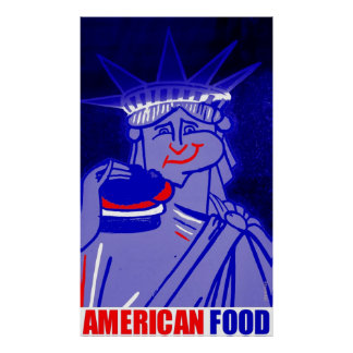AMERICAN FOOD by New York City Urban59 Studio  Poster