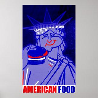 AMERICAN FOOD by New York City Urban59 Studio  Poster