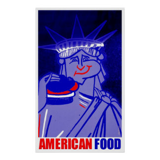 """American Food"" by Urban59 Studio Poster"