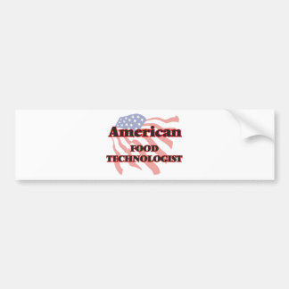 American Food Technologist Car Bumper Sticker