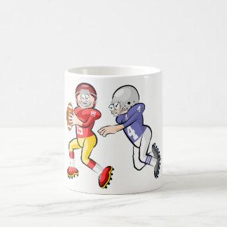 American Footbal Players Cartoon Style Coffee Mug