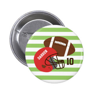 American Football and Red Helmet 2 Inch Round Button