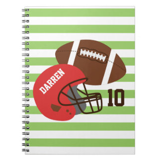 American Football and Red Helmet Notebook