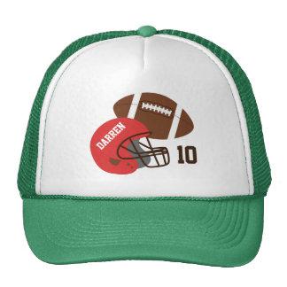 American Football and Red Helmet Trucker Hat