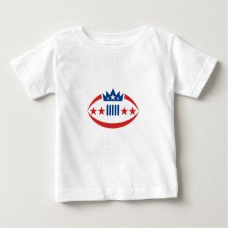 American Football Ball Crown Star Icon Baby T-Shirt