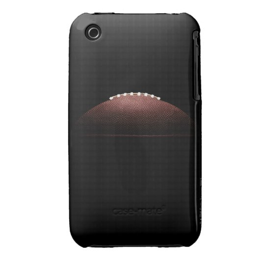 American football ball on black background iPhone 3 Case-Mate case