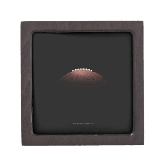American football ball on black background jewelry box