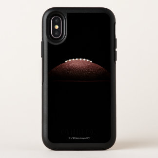 American football ball on black background OtterBox symmetry iPhone x case