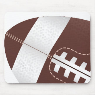 American Football Ball Up Close Mouse Pad
