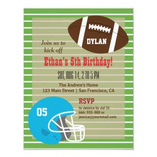 American Football Birthday Party Invitations
